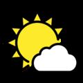 🌤️ Sun Behind Small Cloud
