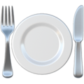 🍽️ Fork and Knife with Plate
